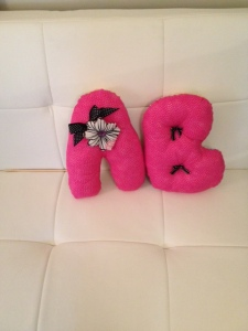 Made these cute and comfy baby initial pillows ready for the nursery!