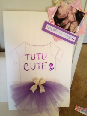Tutu Cute Baby Shower. Remember all your guest as they sign this Over sized guest card