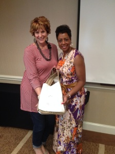 Here with Shari Braendel founder of Reveal Your Dignity and the bag