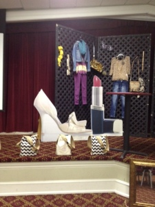Stage setup displaying the kit bags for the RYD JR Fashion Stylist.